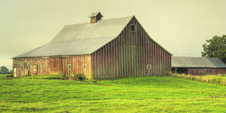 Red Barn Country Farm Stock Photo