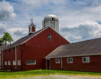 Red Barn in the country. Farm living - Red barn of Middleburg VA Stock Image