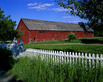 Red barn in countryside, New Brunswick Royalty Free Stock Photos