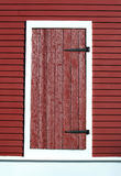 Red barn door Stock Images