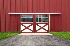 Red barn door Stock Image