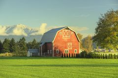 Red Barn Farm Stock Photos