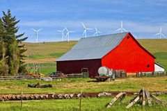 Red barn in a farm Eastern Washington. Stock Photography