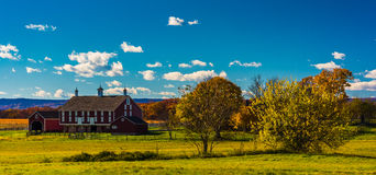 Red barn at Gettysburg, Pennsylvania. Royalty Free Stock Photo