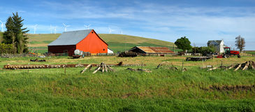 Red Barn In A Farm Eastern Washington. Royalty Free Stock Images