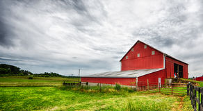 Red Barn landscape royalty free stock photo