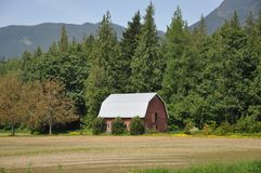 Red Barn Meadow Royalty Free Stock Photography