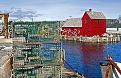 Red Barn. Motif Number 1. Stock Photo
