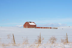 Red Barn New Mexico Stock Image