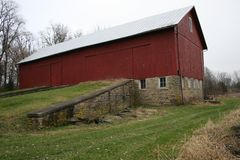 Red Barn in Ohio 2018 royalty free stock images