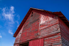 The red barn. Royalty Free Stock Image