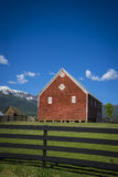 Red barn in Oregon Royalty Free Stock Photos