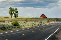 Red Barn in the Palouse Stock Photography