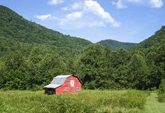 Red Barn in Pasture Royalty Free Stock Image
