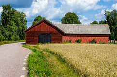 Red wooden barn Stock Photography
