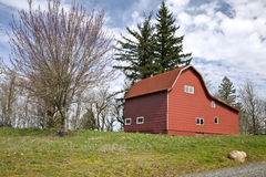 Red Barn Oregon. Royalty Free Stock Images