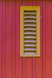 Red Barn Siding Yellow Vent Stock Images