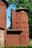 Red Barn Silo stock photos