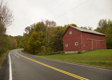 Red Barn, Vermont Royalty Free Stock Photography