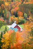 Red barn in Vermont rural side Stock Photography