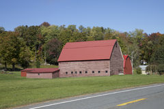 Red Barn, Vermont Royalty Free Stock Images