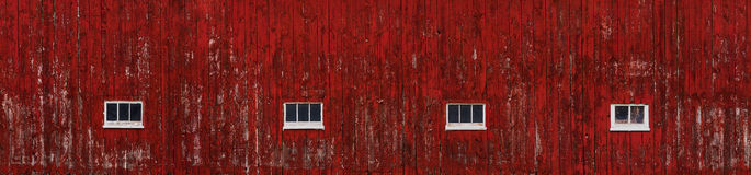 Red Barn Wall Siding Wide Stock Photography