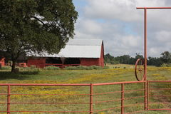 Red Barn. This was taken in East Texas a few miles from my home. Love the sky this day so I had to stop for the image Stock Photos