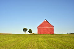 Red barns Stock Photography