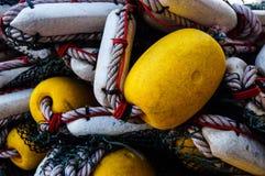 Red barredera en el barco de pesca Fotografía de archivo libre de regalías