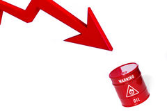 Red barrel of oil Stock Photography