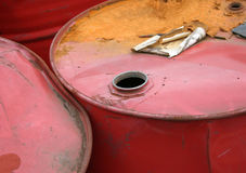 Red barrels Royalty Free Stock Photo