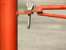 Red barrier Stock Photo