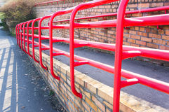 Red barrier Stock Photos