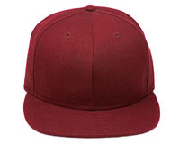Red Baseball Cap. Shot of a isolated baseball hat on a white background Stock Photos