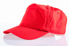 Red baseball cap Stock Image