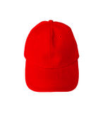 Red baseball cap with blank space for insert text Royalty Free Stock Images