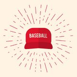 Red Baseball Cap Icon Stock Image