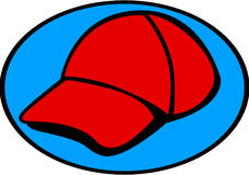 Red baseball cap or sport hat. Vector. Illustration of a baseball style cap or sport hat. Vector file available in EPS format Royalty Free Stock Image