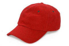 Red baseball hat Stock Images