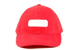 Red baseball hat Royalty Free Stock Image