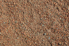 Red Baseball Infield Background. With small pebbles Royalty Free Stock Photos