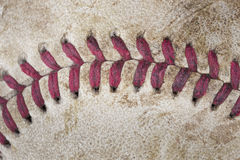 A red baseball seam Stock Photo