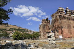 Red Basilica in the Ancient Greek City of Pergamon. Red Basilica or Serapis Temple in the Ancient Greek City of Pergamon in Bergama, Turkey Royalty Free Stock Photography