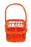 Red basket for bottles Stock Photos