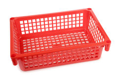 Red basket Stock Photo