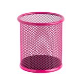 Red basket for pens and pencils on the white background Stock Image