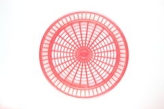 Red basket, top view Royalty Free Stock Photos