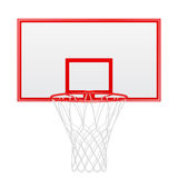 Red basketball backboard isolated on white background Stock Photography