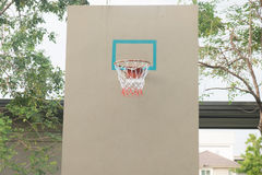 Red basketball hoop in the park Stock Photography