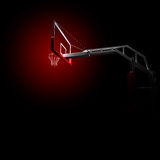 Red basketball houp in blue Stock Photos